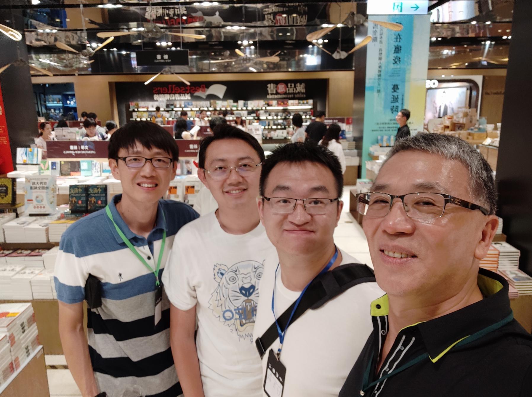左起分别是王蕴博老师(滴滴)、吴晟老师(Apache Skywalking)、我、Ted 刘(开源社理事)