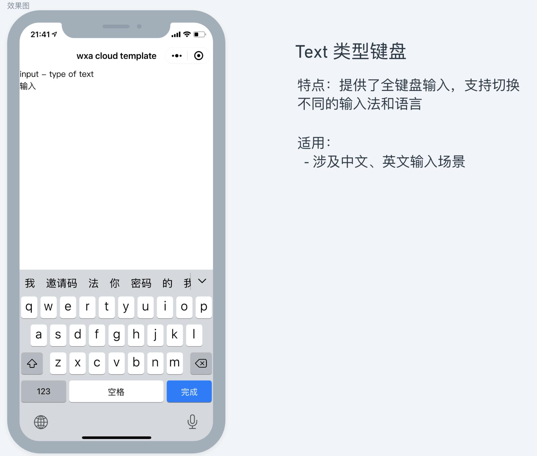 text 类型 input 适用建议