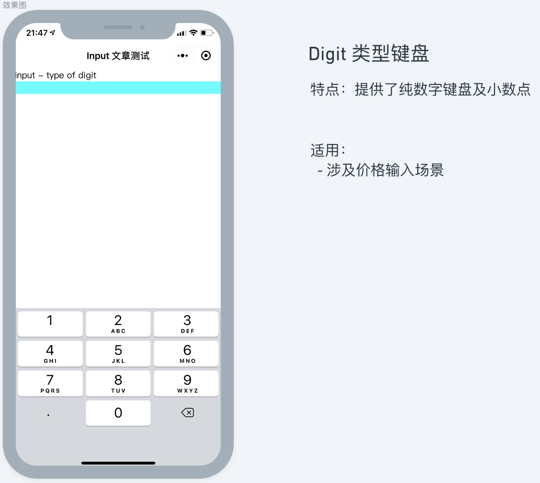 digit 类型 input 适用建议